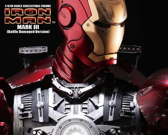Iron Man Mark III Battle Damage
