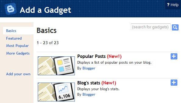 blogger stats widget