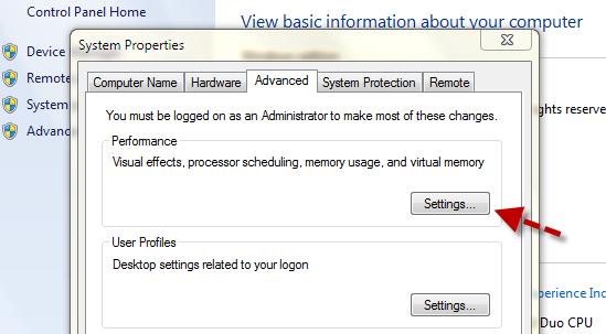 Windows System Setting
