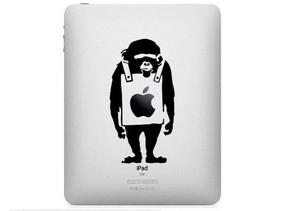 iPad Decal - banky monkey