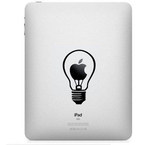 iPad Decal - bulb