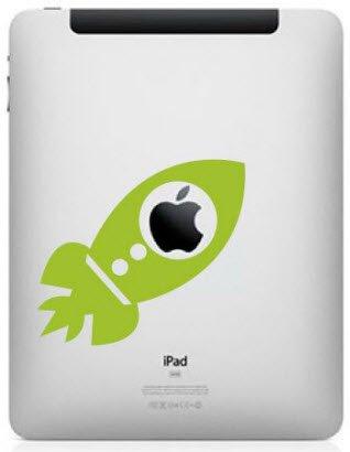 iPad Decal - rocket