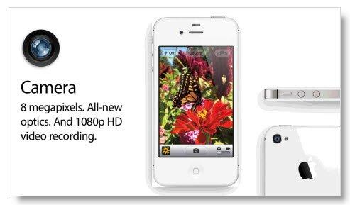 iPhone 4S 8 megapixel camera