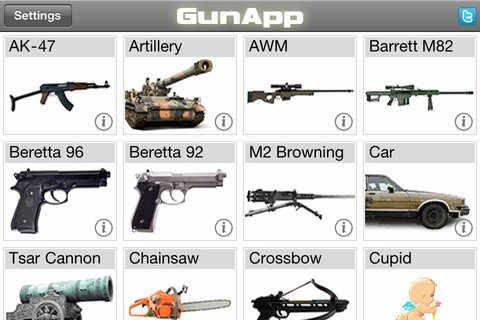 iPhone App - GunApp