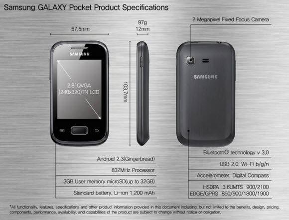 galaxy pocket specs