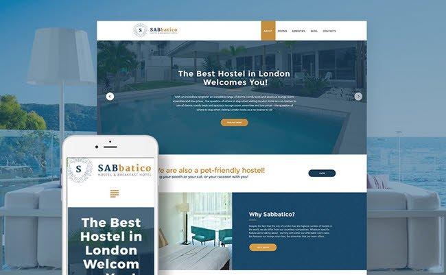 SabBatico - Hostel & Bed & Breakfast Hotel WordPress Theme