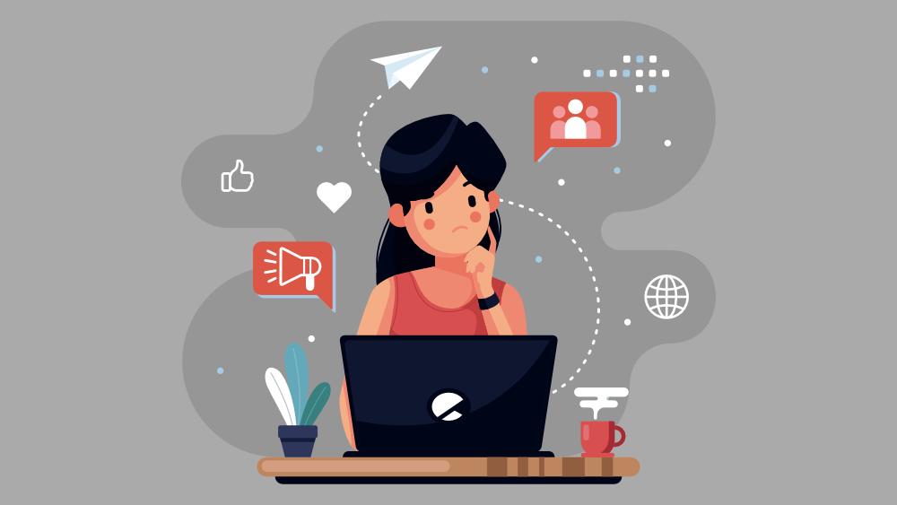 Vestor Illustration: Content Marketing To Establish Your Brand Identity